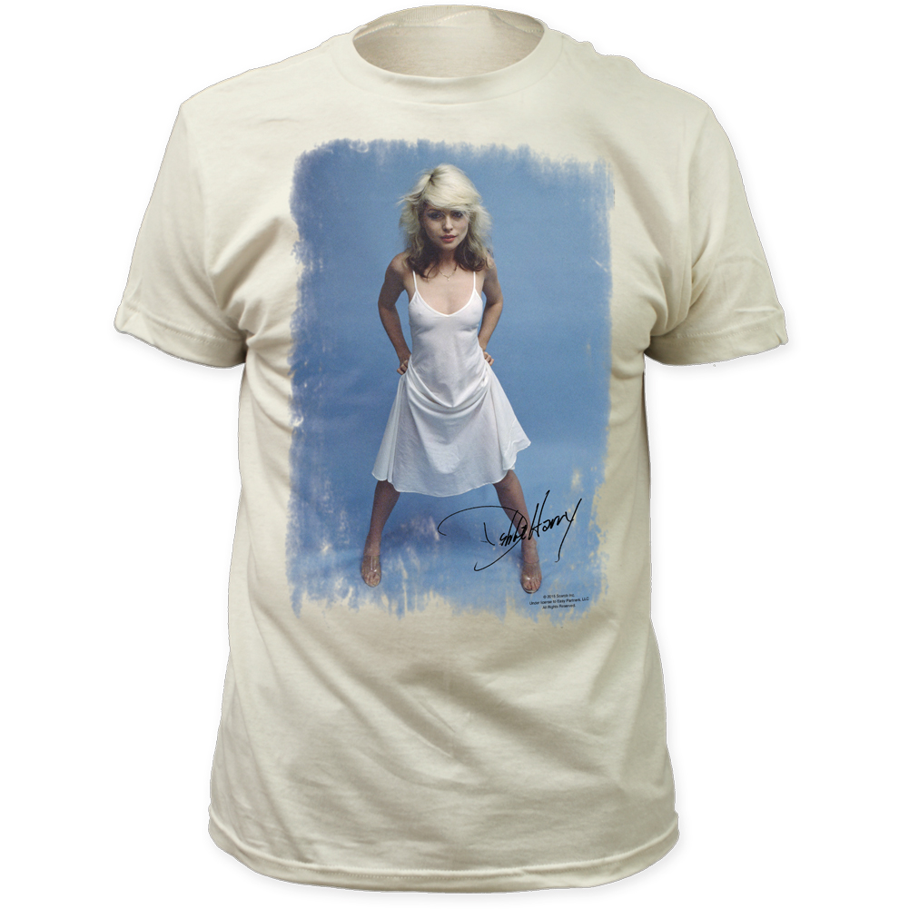 aff9403e21ef6f Wholesale Debbie Harry White Dress Fitted Jersey T-Shirt - Impact ...
